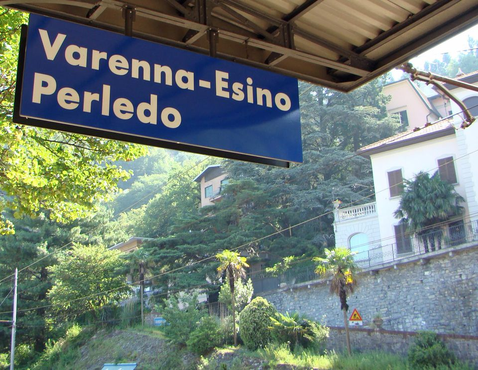 Varenna-Esino station is the gateway to Lake Como resort towns.