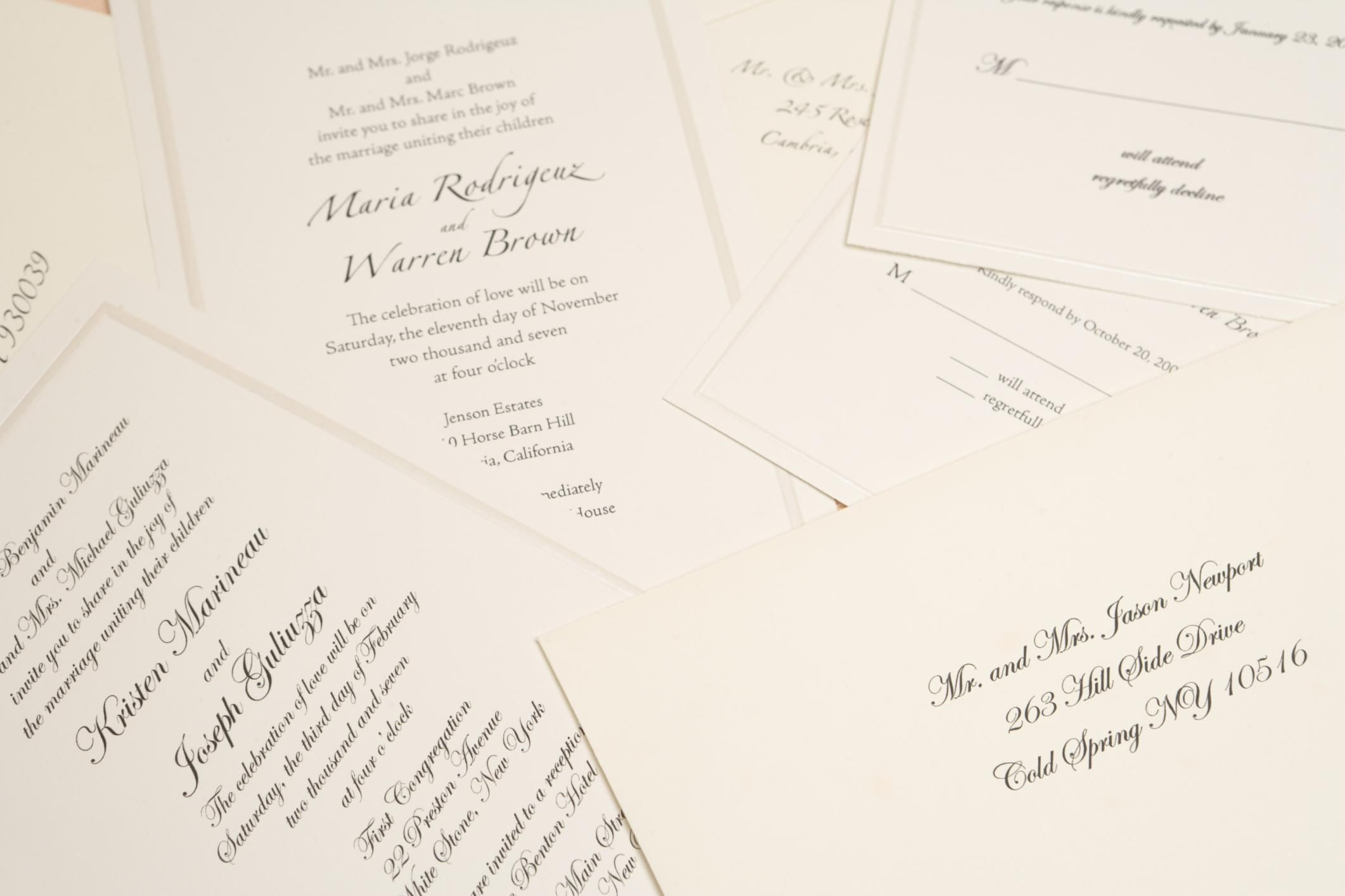 When Should Invitations Be Sent Out For A Wedding: When To Send Out Your Wedding Invitations