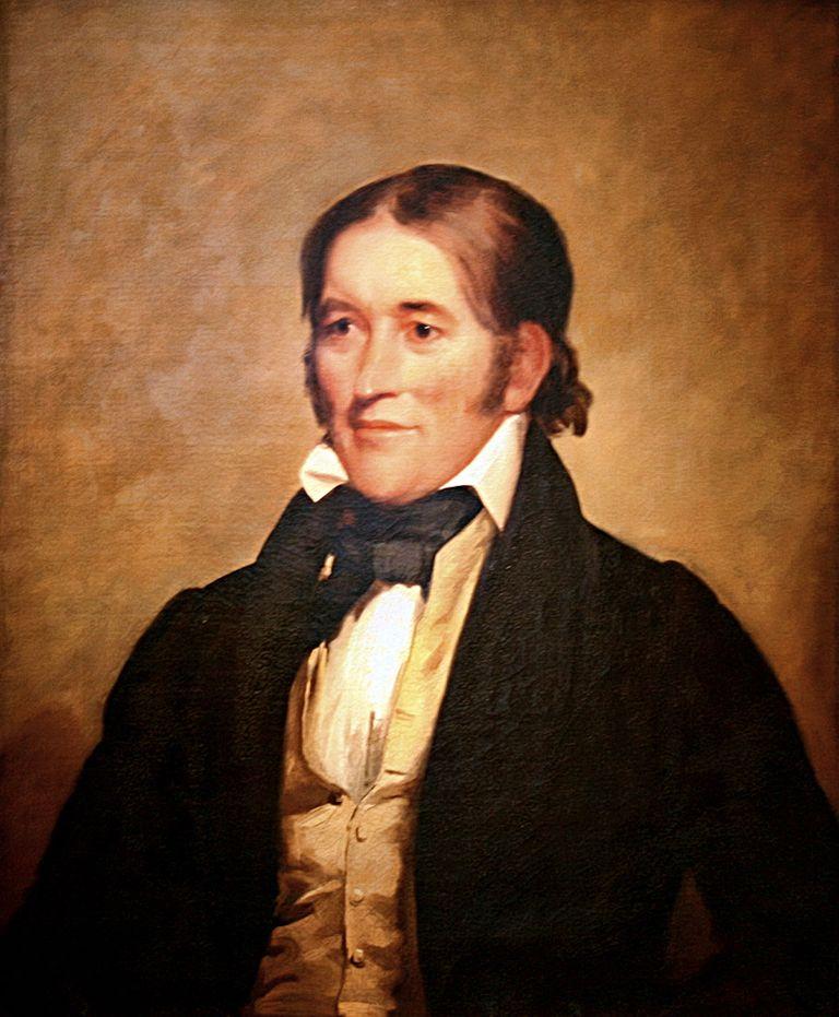 Portrait of Davy Crockett