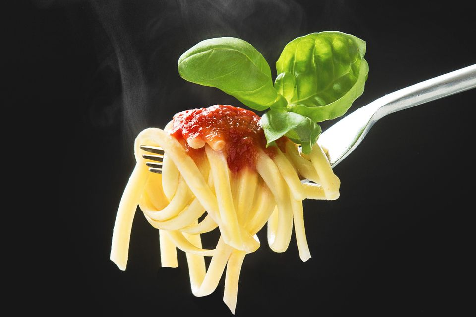 Pasta, Sauce, Basil