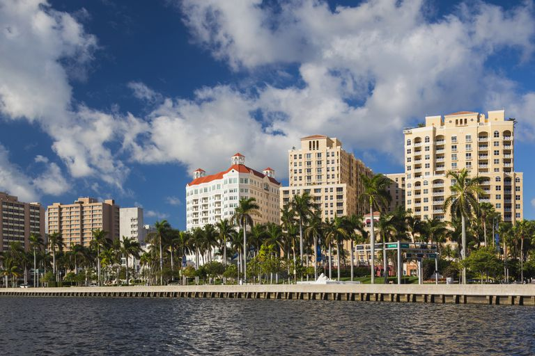 City view at morning, West Palm Beach, Florida, USA