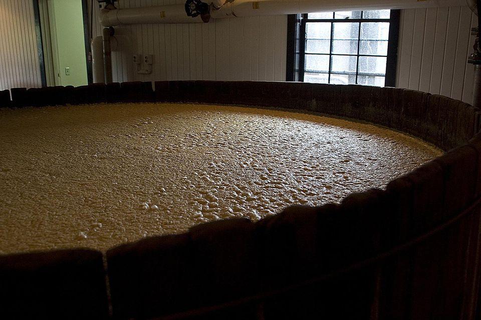 Fermentation tank at the Maker's Mark Bourbon Whiskey Distillery.