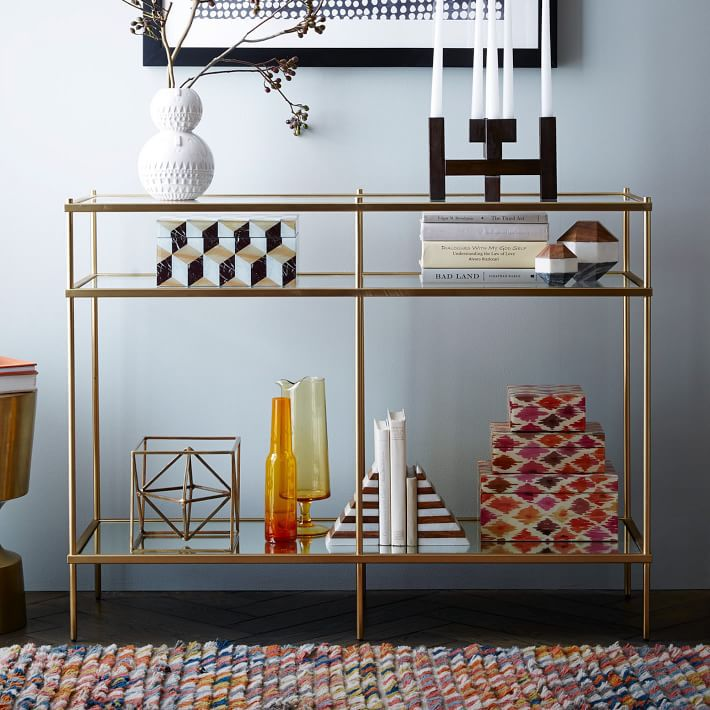 glam console table