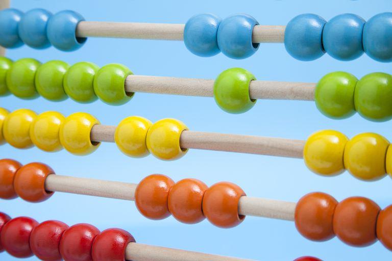 Multi-colored abacus