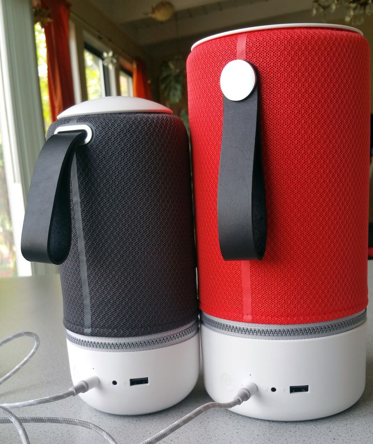 The Libratone Zipp Mini and Zipp Bluetooth speakers side-by-side