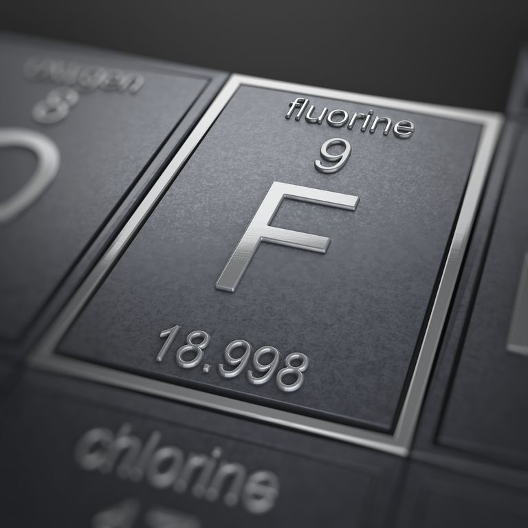 Fluorine is the first halogen element you encounter on the periodic table.