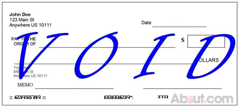 Example of a Voided Check with