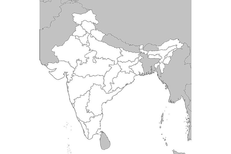 17 blank maps of the us and other countries blank map of india gumiabroncs Image collections