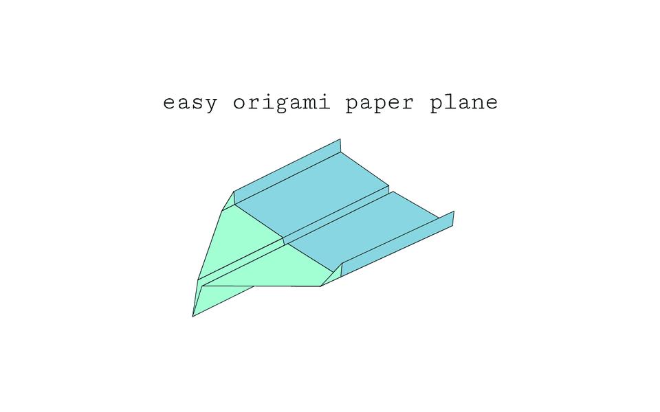 Super Easy Origami Paper Plane Diagram