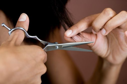 Trim your ends regularly to stop breakage from getting worse.