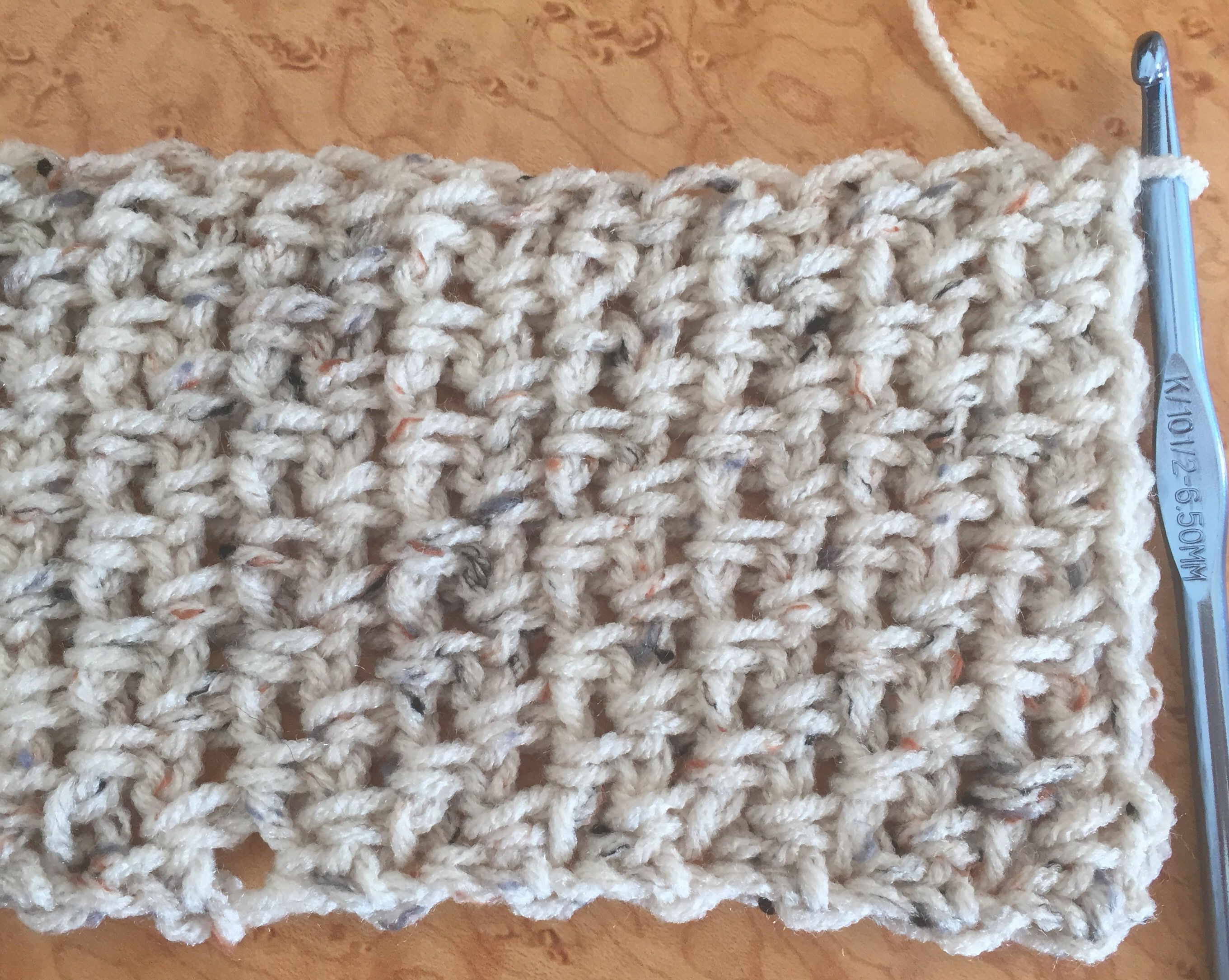 Easy crochet scarf free pattern using moss stitch bankloansurffo Choice Image