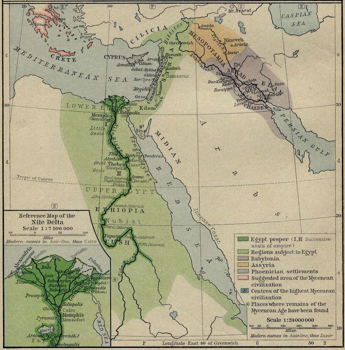 Maps Of Ancient Egypt - Map of egypt in 1450 bc
