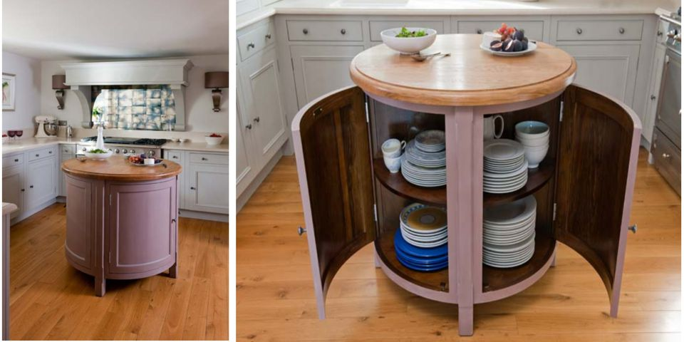 Kitchen Island Round small, circular, movable kitchen island/table