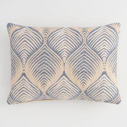 Abstract Geometric Leaf Lumbar Pillow