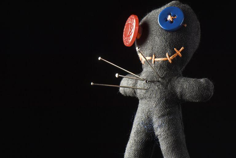 Handmade doll used as pin cushion or voodoo doll