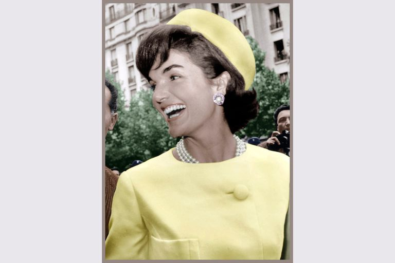 Jacqueline Kennedy during her official visit to Paris 1961