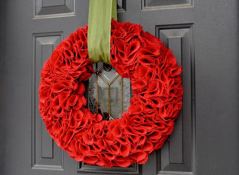 DIY Burlap Covered Wreath