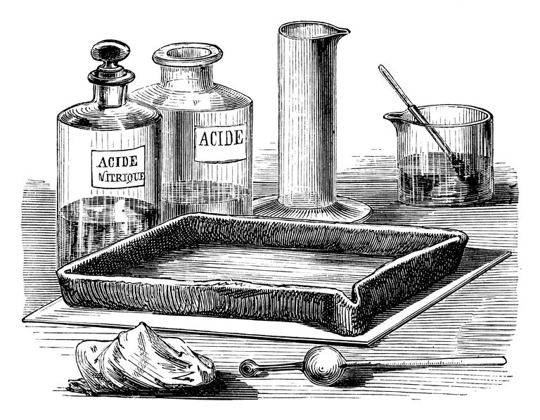 Corrosive bench acids, such as sulfuric and nitric acid, are mineral acids.