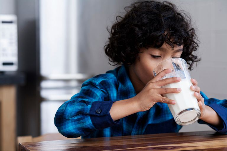 Fats in dairy products can be fine for kids, especially young ones