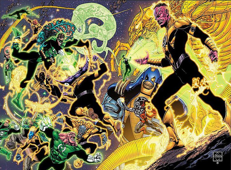 Sinestro Corps War art by Ethan Van Sciver