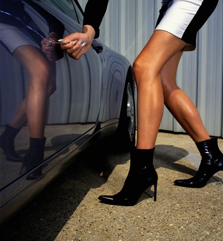 Woman Keying Car