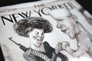The New Yorker Cover Illustration Of Obama And Wife Provokes Controversy