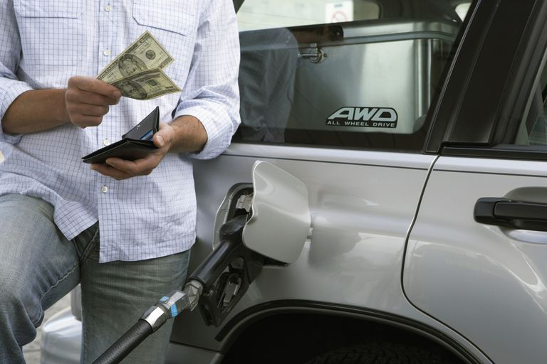 Spending money at the gas pump