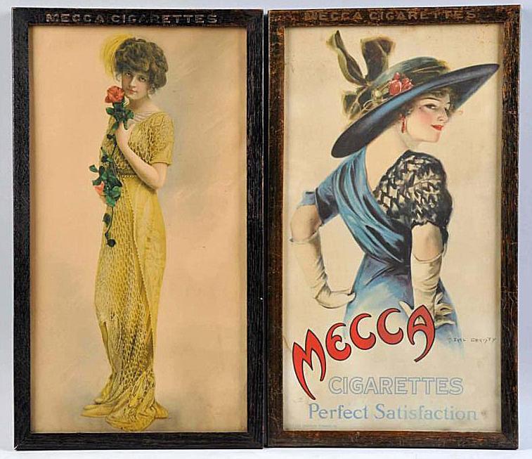 F. Earl Christy Mecca Cigarette Advertising Illustrations