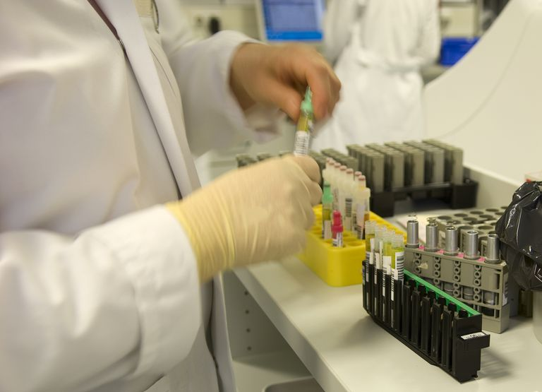 Drug testing in a laboratory