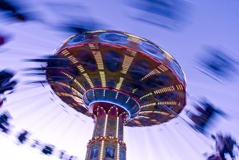 Swing and Twirl ride at the New Mexico State Fair.