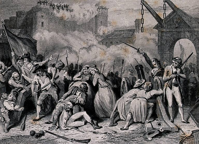 The storming of the Bastille o