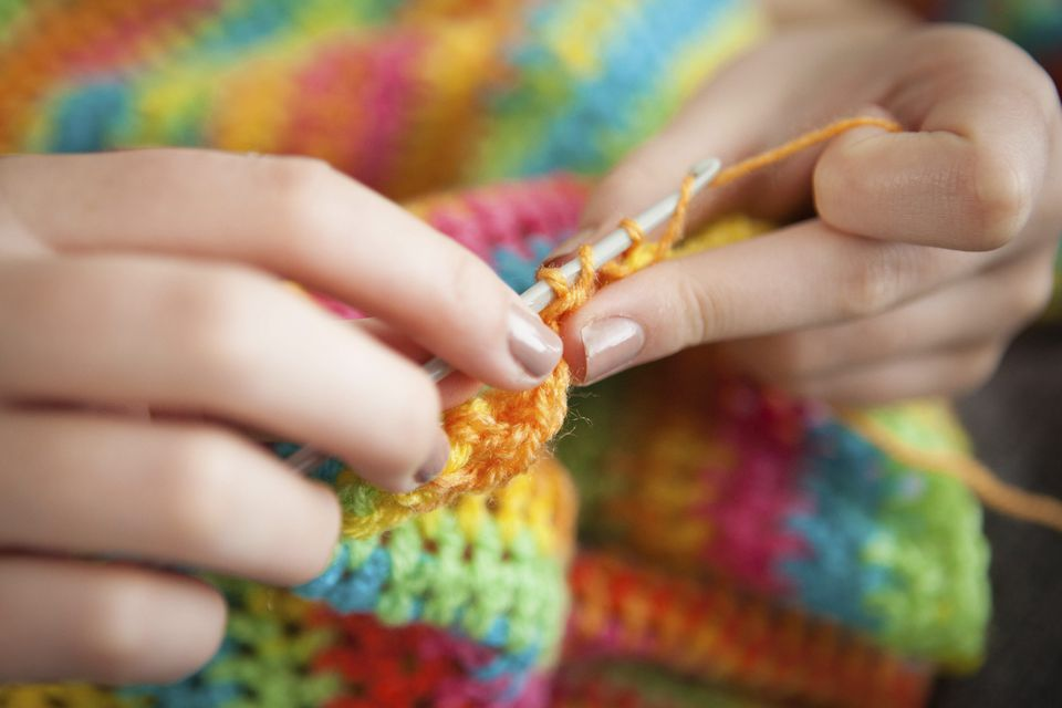 Crocheting blanket