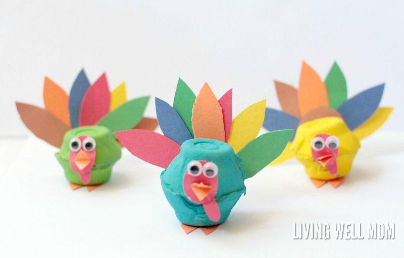 Egg Carton Turkeys