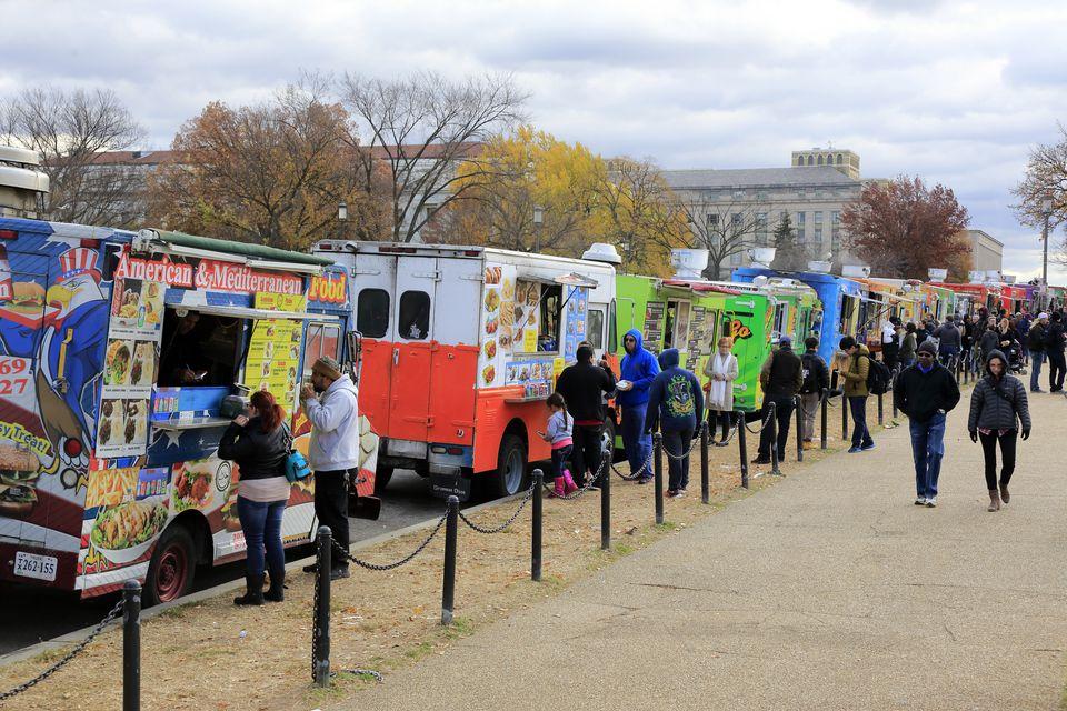 Food trucks in the Mall