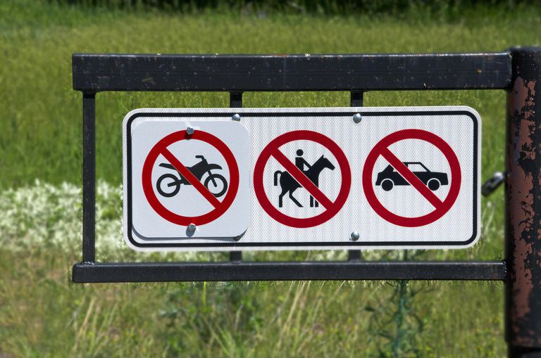 Photo of a sign with various rules on it