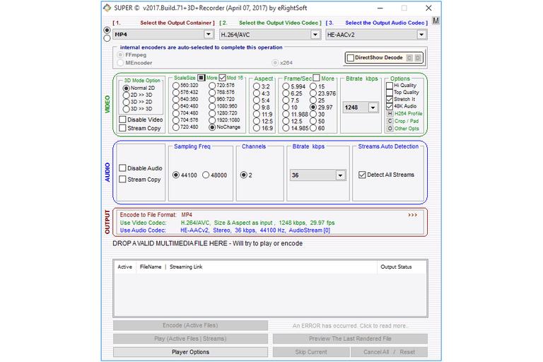 Screenshot of SUPER in Windows 10