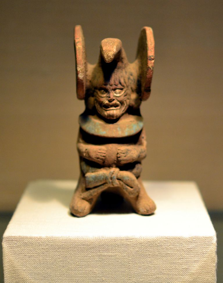 Mayan ocarina depicting Ah Puch