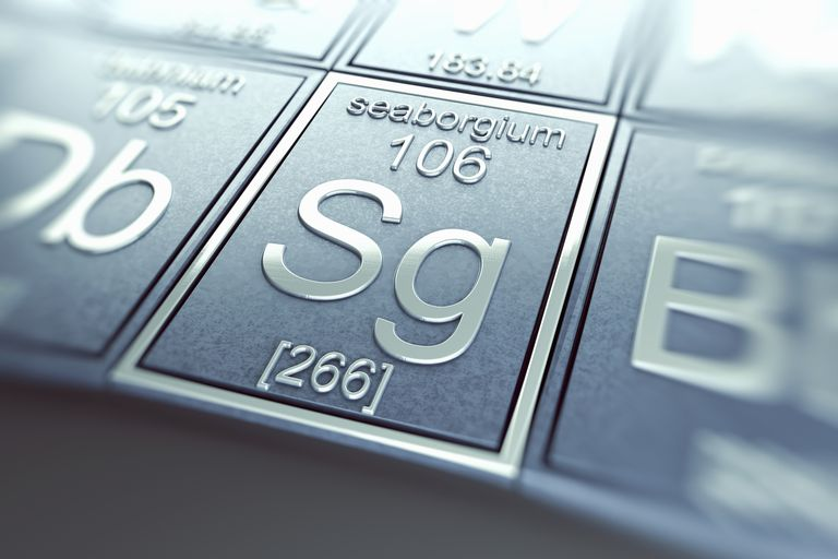 Seaborgium is a radioactive metal with element number 106 and symbol Sg.