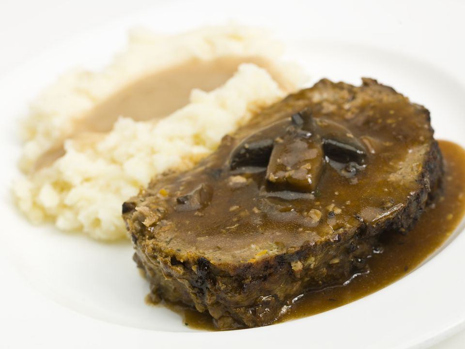 meat loaf and mashed potatoes