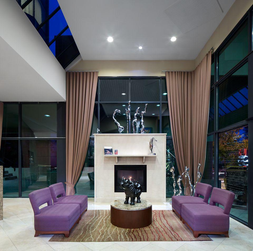 Listel Hotel, Vancouver, interior lobby