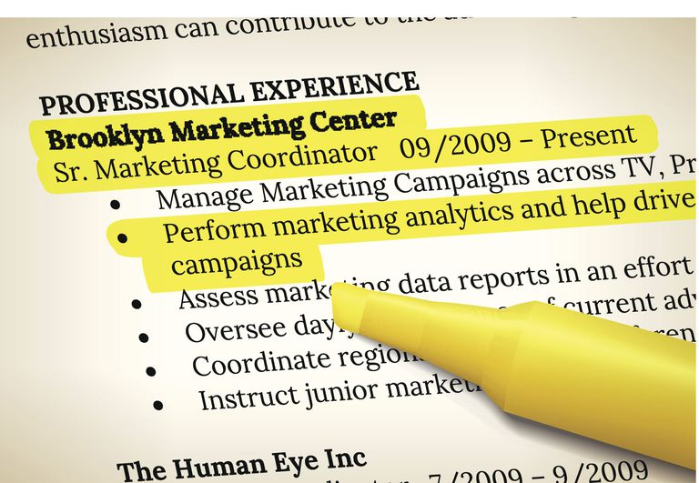 resume with highlighting
