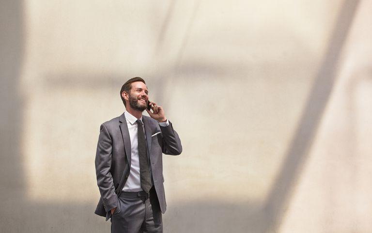 Man making business call