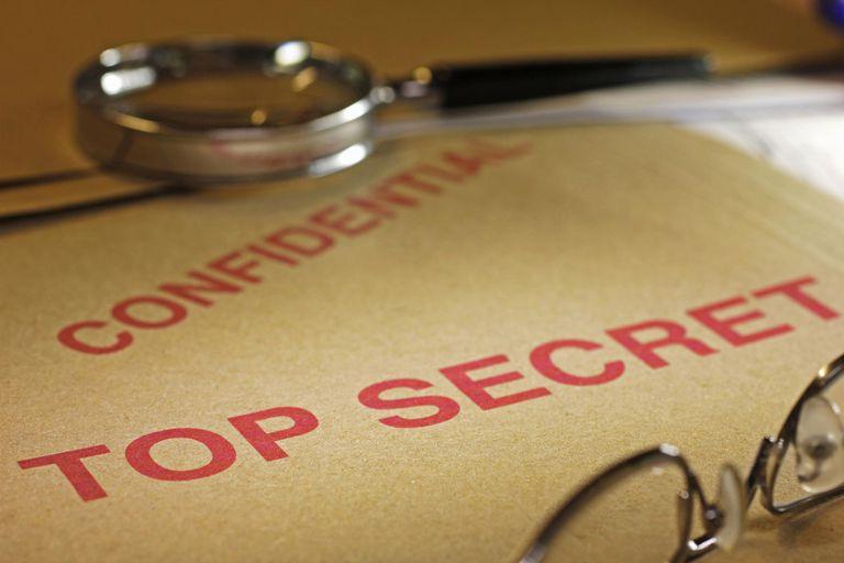 Top secret confidential file