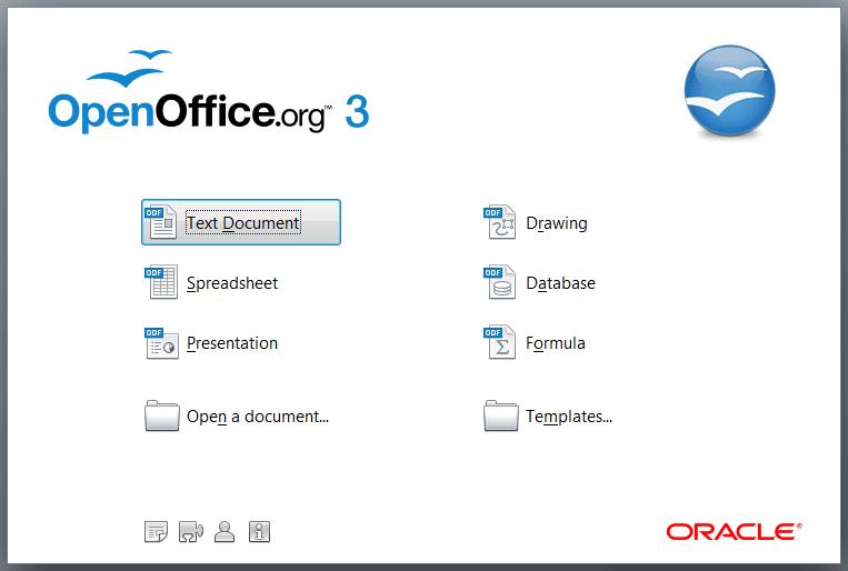 openoffice.org screen