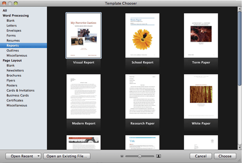 How to Create a New Word Processing Document in Pages '09