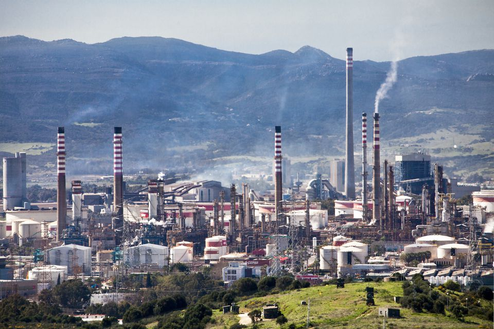 Oil Refinery in Algeciras City in Spain
