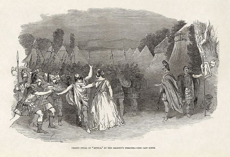 Illustrated London News - Giuseppe Verdi's Attila at Her Majesty's Theatre, London