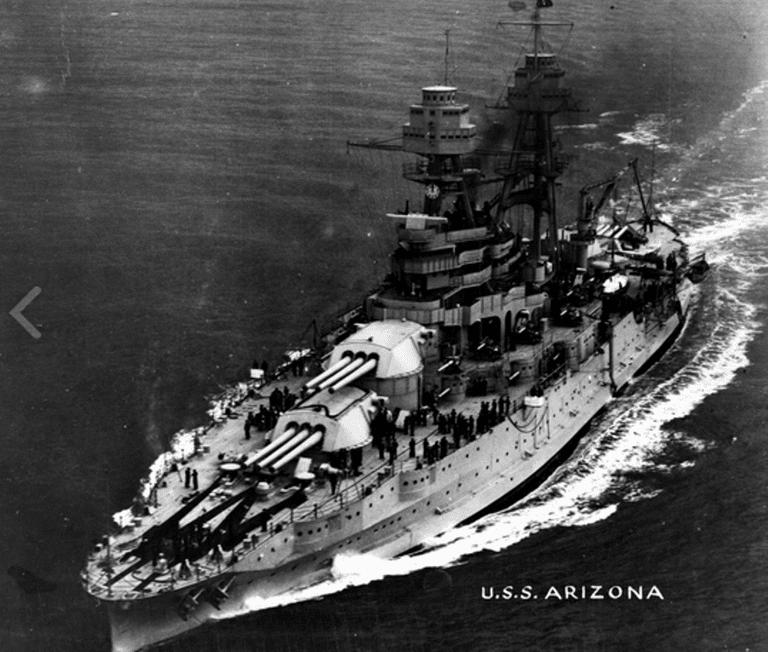 USS Arizona underway