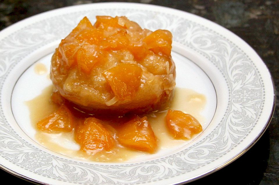 Quick Peach and Coconut Upside-Down Biscuits