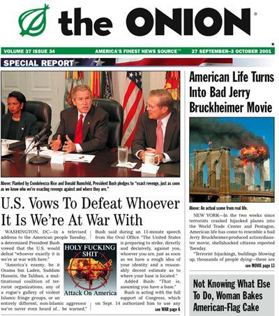 Onion 9/11 Issue
